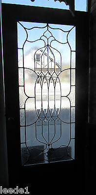 Pair of French Doors Combination Bevel & Flat Glass 36 x 80 Six Foot Opening