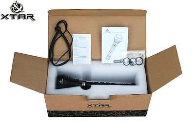 Xtar D10 100m DUAL BATTERY Scuba Diving Torch with CREE XM-L U2 **TORCH ONLY**