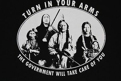 Vintage 90's~Native Indian~Turn In Your Guns Shirt~Chief Geronimo Quote On Back