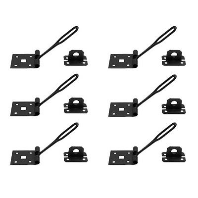 6 Hasp Black Wrought Iron Wire 1 3/4 H x 5 W | Renovators Supply