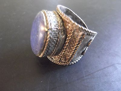 A Magnificent Post Medieval Antique Undated  Finger Ring White Metal
