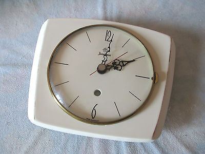 JUNGHANS Clock Kitchen Wall Ceramic vintage orologio watch montre Uhr germany