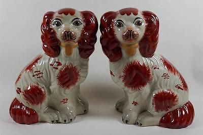 Superb Pair Staffordshire King Charles Spaniels 'Grace & Majesty'.