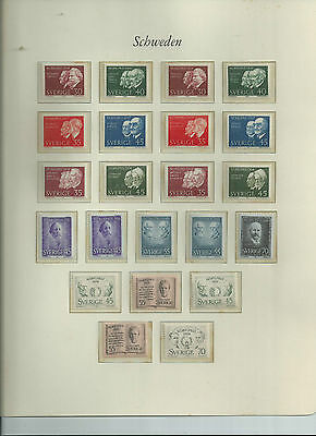 Sweden Mnh Sets And Cover Lot