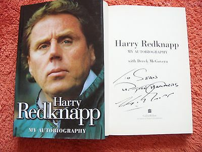Signed Harry Rednapp Autobiography. Hb
