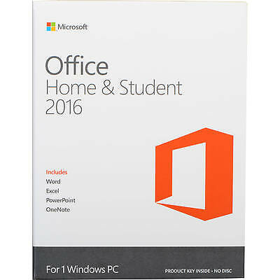 Microsoft Office Home And Student 2016 Software Word Excel PowerPoint