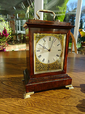 Attractive mid 19c. Rosewood Cased Carriage Clock Style 8 Day Bracket Timepiece