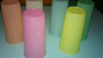Vintage TUPPERWARE Lot of 6 Pastel  Cups