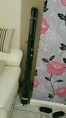 2x 12 ft hook and reel shore and beach fishing rods