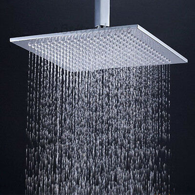 "Bathroom 8"" Square Stainless Steel Rain Shower Head Chrome Rainfall Sprayer"