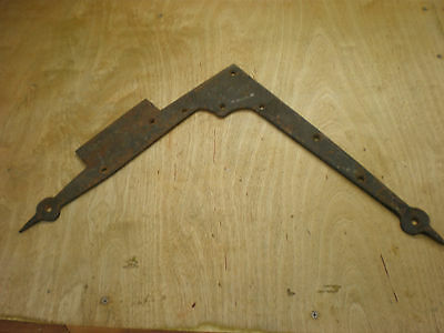 Vintage Wrought Iron Door Flat Angle Frame Brace