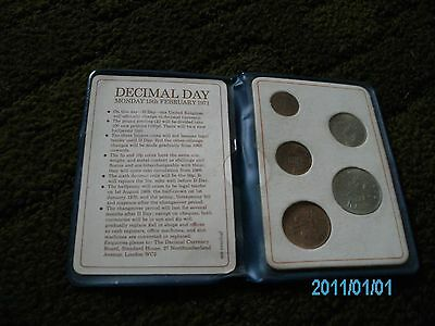 1971 set of decimal coins