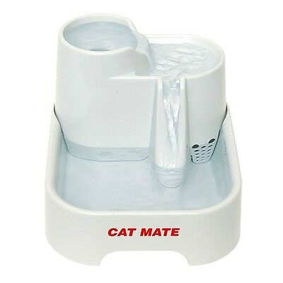 Cat Water Fountain Drinking Bowl Cats Dogs Easy to clean dishwasher-proof bowls