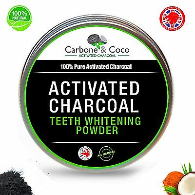 Carbone & Coco™ Charcoal Activated Whitening Tooth  Teeth Powder Toothpaste UK