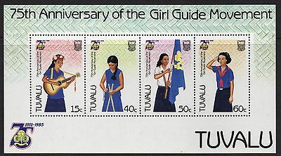 Tuvalu 1985 Girl Guides 75th Anniversary mini sheet SG MS 347 unmounted mint