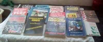 Horse Racing Betting Gambling book collection (16 books)