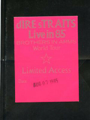 Dire Straits 1985-Brother In Arms World Tour - Backstage Pass Limited Access