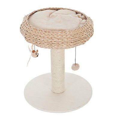 Cat Tree Tower Raised Bed Sisal Post Toys Basket Cushion Catnap Scratching