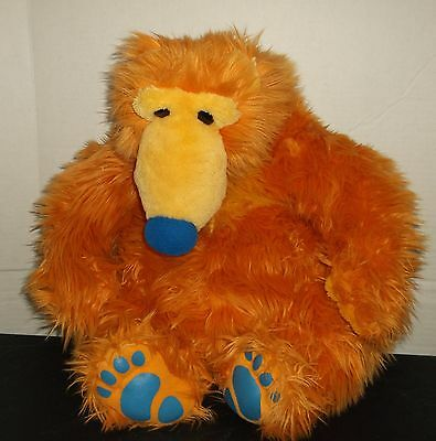 """Jim Henson Bear in the Big Blue House Mattel Plush  22"""" Tall Great condition!"""