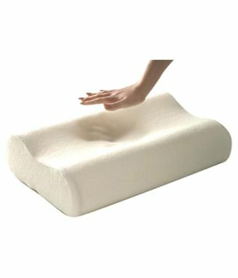 2x CONTOUR MEMORY FOAM PILLOW & COVER ORTHOPAEDIC HEAD NECK BACK SUPPORT PILLOWS
