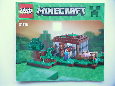 Lego 21115 Minecraft The First Night  Instruction Manual Book Only No Bricks