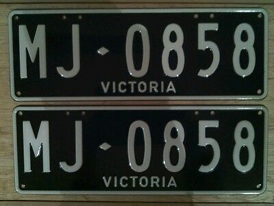 """MJ0858"" Victorian Number Plates. New"