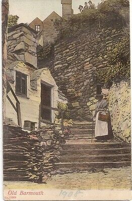 OLD BARMOUTH, Wales - Vintage Postcard #12309