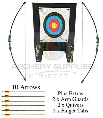 ASD Wildcat Recurve Double Pack 2 bows With Target Faces, Pins + Extra arrows