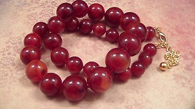 Joan Rivers Chunky Amber Swirl Lucite Bead Necklace