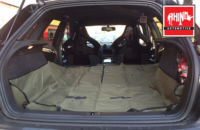 Audi A6 Allroad Extra Heavy Duty Boot Liner-Rear Seat Protector 2In1