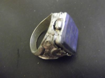 A Magnificent Post Medieval Antique Undated Islamic  Finger Ring White Metal