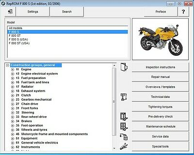 2006-2013 BMW F800S / F800ST RepROM Service Manual CD - Multilingual