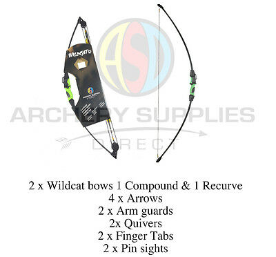 ASD WILDCAT DOUBLE BOW PACK COMBO ! 1 x Recurve bow & 1 x Compound Bow + Extras