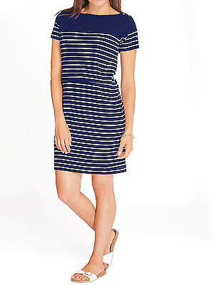 New Ex JoJo Maman Bebe Navy White Breton Breastfeeding Tunic Dress XS S M L