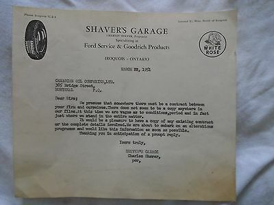RARE Letter to Canadian Oil Companies Ltd With White Rose Logo Oil-Gas 1951 Date