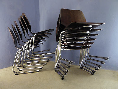1of8 VINTAGE 60s 70s WEST GERMANY FLOTOTTO PAGHOLZ STACKING CHAIRS