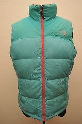 North Face Womens Xl Goose Down 700 Gilet Green Ga92