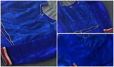 New Beautiful Blouse Top choli Velvet Blue Pink Saree Sari Lengha