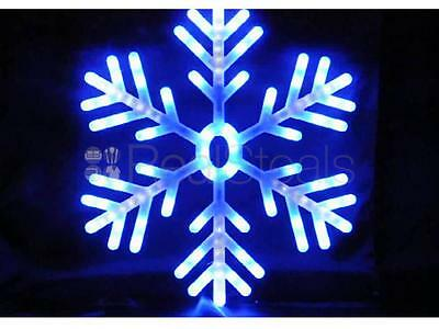 Christmas Blue White Led Snowflake Rope Lights Indoor Outdoor Window Decoration