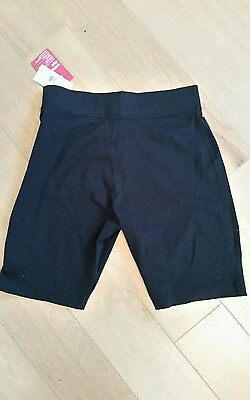 M &S  aged 14-15 years black lycra cycle  shorts new with tags
