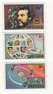 Grenada 1976 Centenary of First Telephone to 2c fv Telephone Alexander Bell MUH