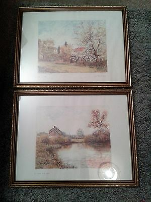 Lovely Vintage Pair Of Signed Prints By Jean Marie Le Guen