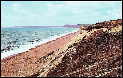 Postcard -Panoramic View  Burton Bradstock Beach Dorset Stamped But Not Posted