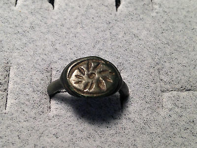 Roman Astrological Bronze Ring 100 BC - 300 AD Size 6