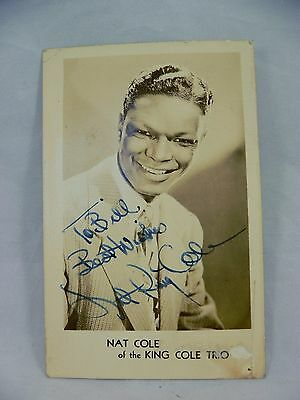 NAT KING COLE Hand Signed Autograph on Glossy Photo, Authentic, Signed in 1948