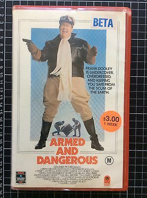 ARMED AND DANGEROUS rare RCA BETA not VHS Video cult John Candy 80s comedy movie
