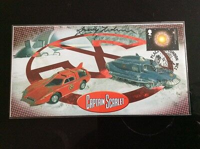 Captain Scarlet Vehicles First Day Cover Signed by Gerry Anderson