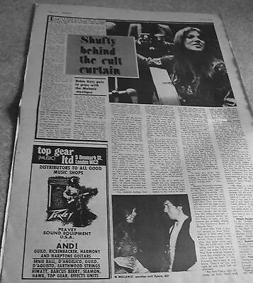 Melanie - 1 Page 1970's Uk Music Paper Article