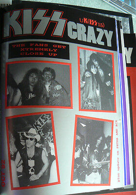 Kiss -  Kiss Crazy Fanclub Issue Number 15 Oct 1992 Ex Magazine