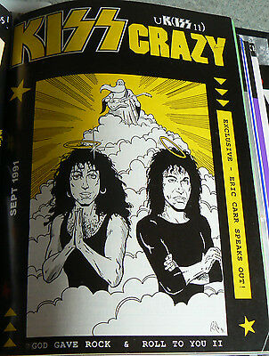 Kiss -  Kiss Crazy Fanclub Issue Number 11 Sept 1991 Ex Magazine